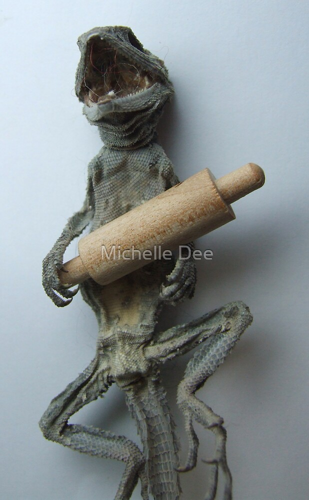 """""""..and what time do you call this...""""?  (Lizard Series) by michelleduerden"""