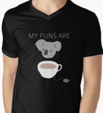 """Koala Tea"" puns Men's V-Neck T-Shirt"