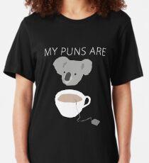 """""""Koala Tea"""" Wortspiele Slim Fit T-Shirt"""