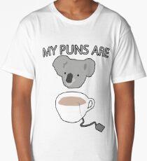 """""""Koala Tea"""" puns Long T-Shirt"""