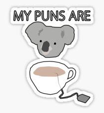 """Koala Tea"" puns Sticker"
