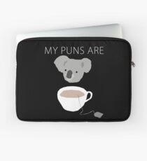 """""""Koala Tea"""" puns Laptop Sleeve"""