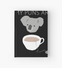 """Koala Tea"" puns Hardcover Journal"