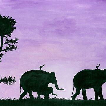 elephants by mayden