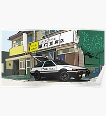 Initial D AE 86 Poster
