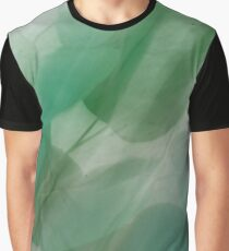 Fleur Blur Series-Abstract Eucalyptus Leaves Graphic T-Shirt
