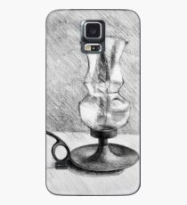 Still life drawing illustration of old vintage glass lamp Case/Skin for Samsung Galaxy