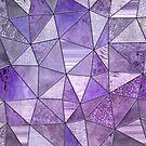 Purple Glamour Shiny Patchwork by artsandsoul