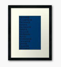 14 Doctors list Framed Print