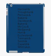 14 Doctors list iPad Case/Skin