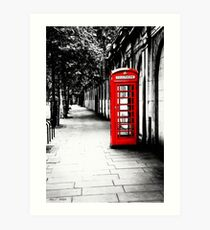 London Calling - Classic British Red Telephone Box Art Print