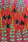 Pastels - Sturt Pea Garden by Georgie Sharp