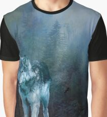 Lone Wolf Moon Graphic T-Shirt
