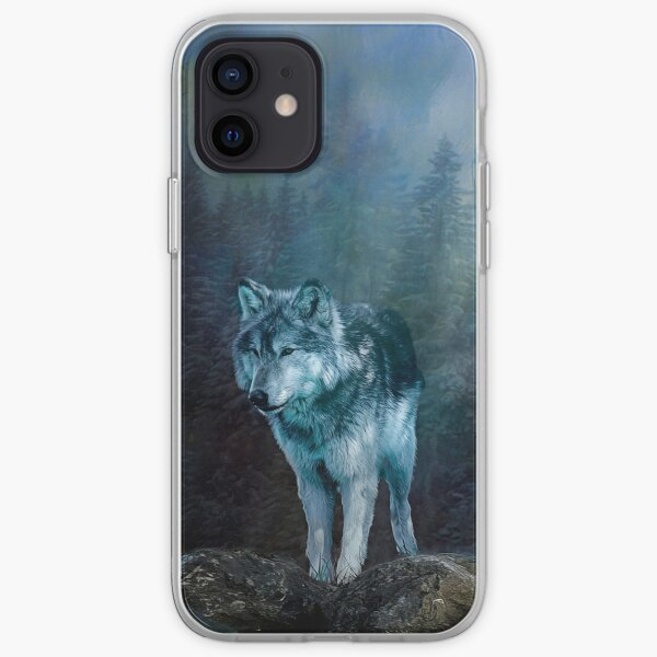 Lone Wolf Moon iPhone Soft Case
