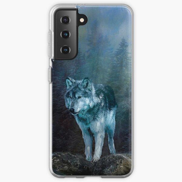 Lone Wolf Moon Samsung Galaxy Soft Case