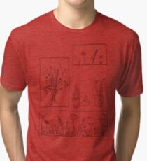 wildflowers illustrated print Tri-blend T-Shirt