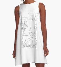 wildflowers illustrated print A-Line Dress