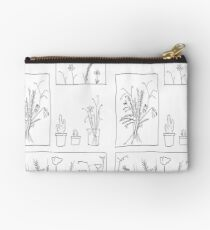 wildflowers illustrated print Studio Pouch