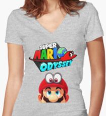 Mario Odyssey Women's Fitted V-Neck T-Shirt