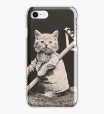Farming kittens iPhone Case/Skin