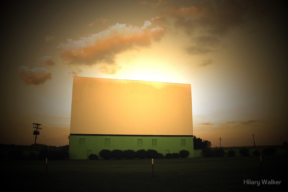 Drive-In Sunset by Hilary Walker