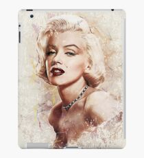 Sexy Marilyn Monroe oil painting and pencil sketch iPad Case/Skin