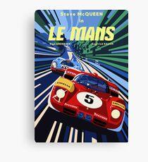 Affiche Le Mans Canvas Print