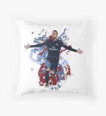 Neymar - PSG Artwork Throw Pillow