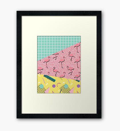 Dreaming 80s #redbubble #decor #buyart Framed Print
