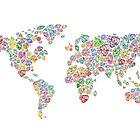 Diamonds world map #3 by Skinny Love by Gabriel