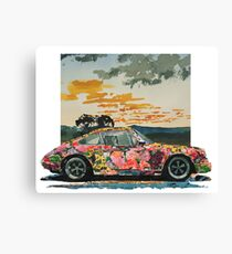 Porsche 911 Power Flower Canvas Print