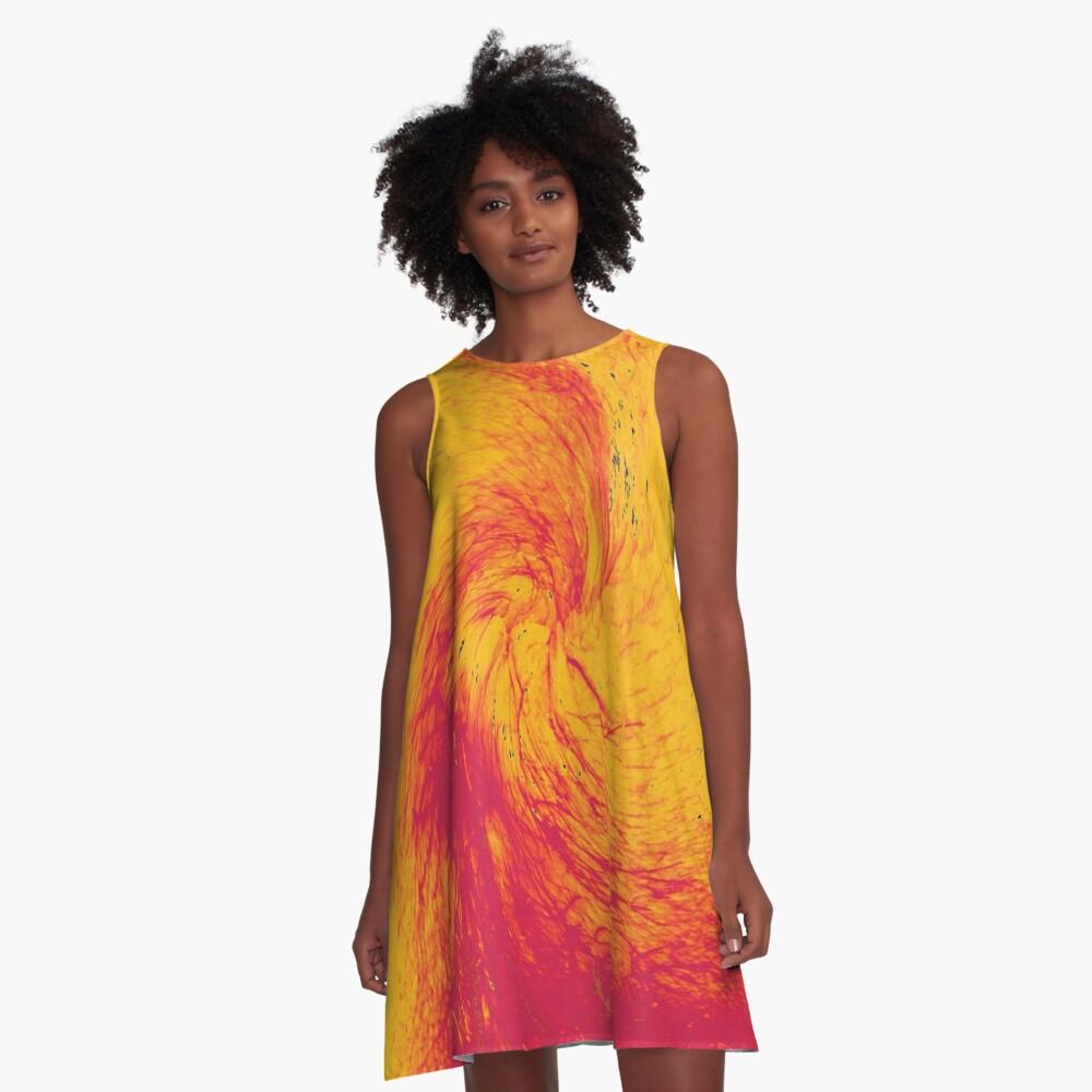 Pele's Fire A-Line Dress Front