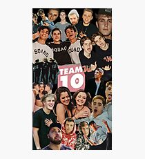 [highest quality] [Cheapest] TEAM 10 COLLAGE! Photographic Print