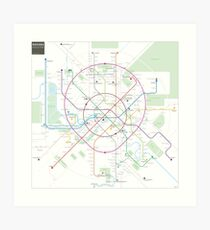 Moscow metro map Art Print