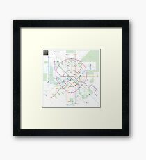 Moscow metro map Framed Print
