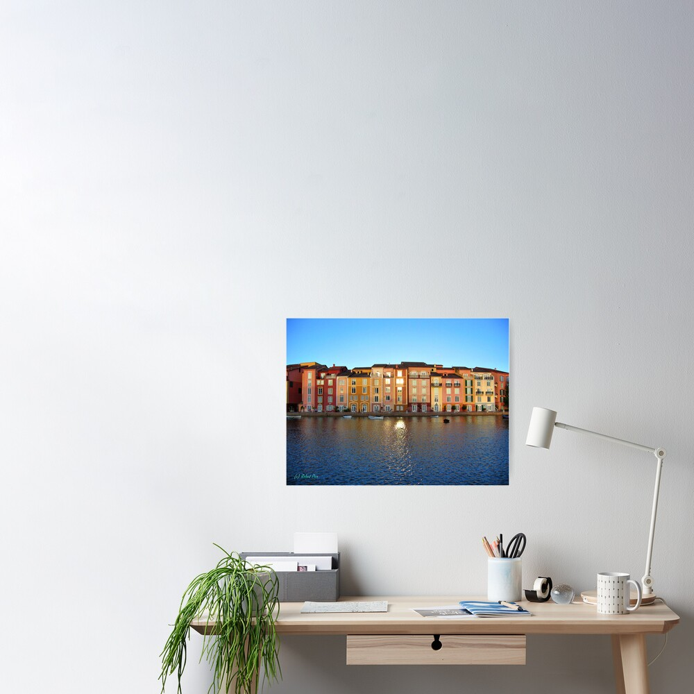 Sunset in Portofino Bay Poster