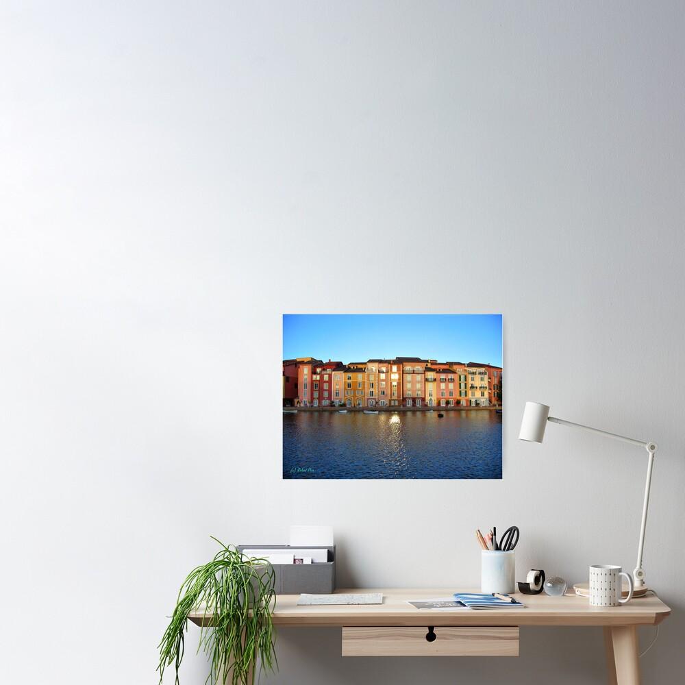 Sunset in Portofino Bay Poster
