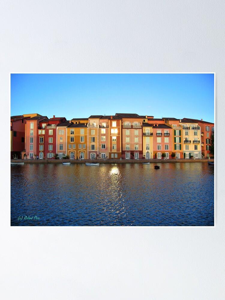 Alternate view of Sunset in Portofino Bay Poster