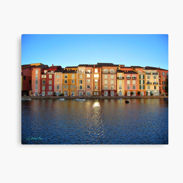 Sunset in Portofino Bay Canvas Print