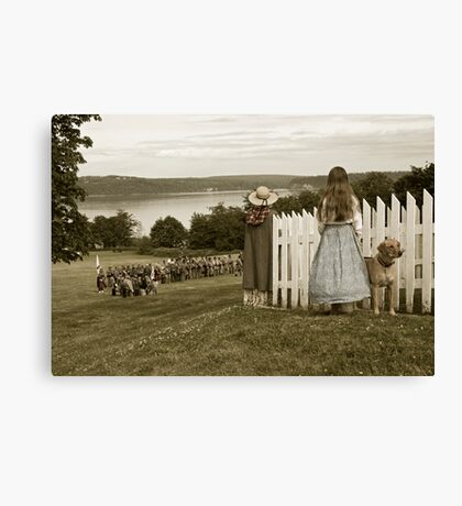 Off to Battle Canvas Print