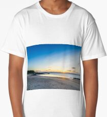 White sand beach at dusk Long T-Shirt