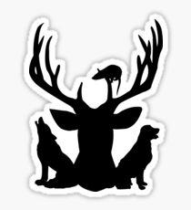 The Four Friends Sticker