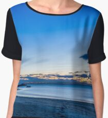 White sand beach at dusk Women's Chiffon Top