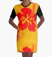 Pila Fashion Design - Hibiscus Graphic T-Shirt Dress