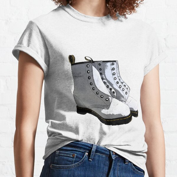 Chaussures blanches Dr. Martens T-shirt classique