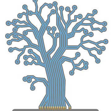 Tree made up of circuits by graphicgeoff