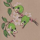 Green Apple Opossums by justteejay
