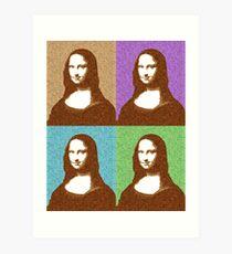 Scrabble Mona Lisa x 4 Art Print