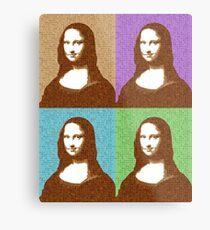 Scrabble Mona Lisa x 4 Metal Print
