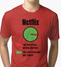 How I Spend Time On Netflix  Tri-blend T-Shirt